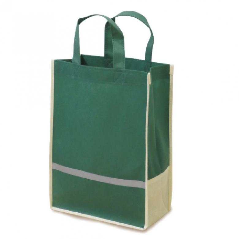反射材付きバッグ緑