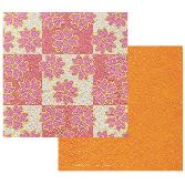 格子桜オレンジ